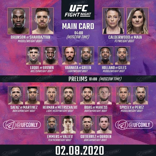 Foto Dnya Polnyj Fajtkard Turnira Ufc Fight Night 173