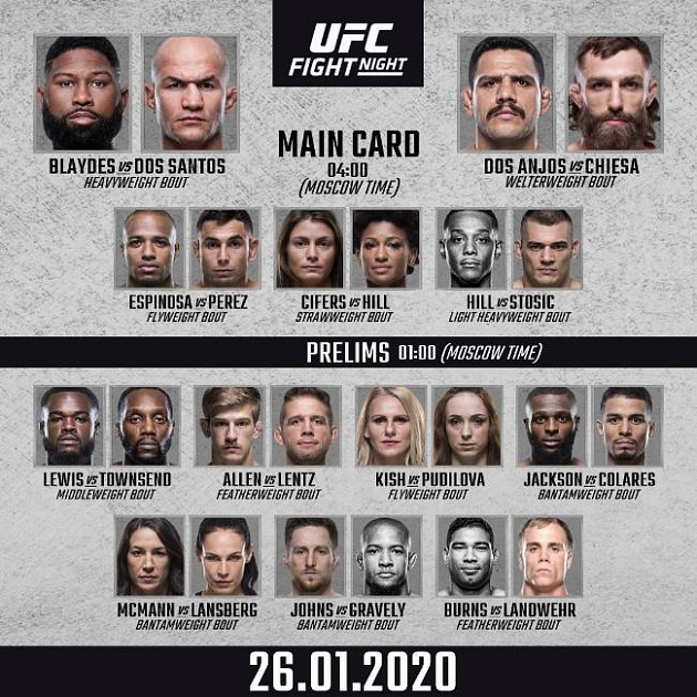 Polnyj Fajt Kard Turnira Ufc Fight Night 166