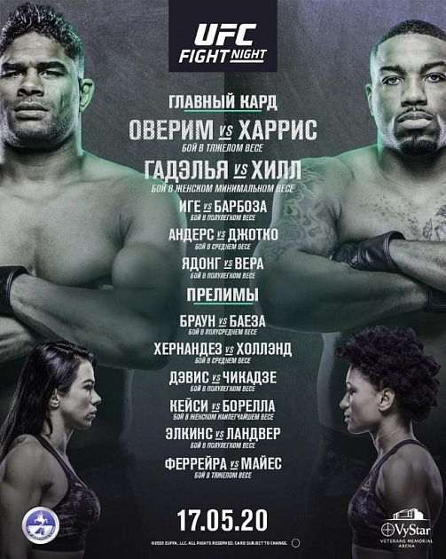 Polnyj Fajt Kard Turnira Ufc Fight Night 172